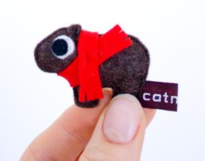 Demnächst bei mir zuhause: Der Weihnachtswombat von catmade. Foto: catmade